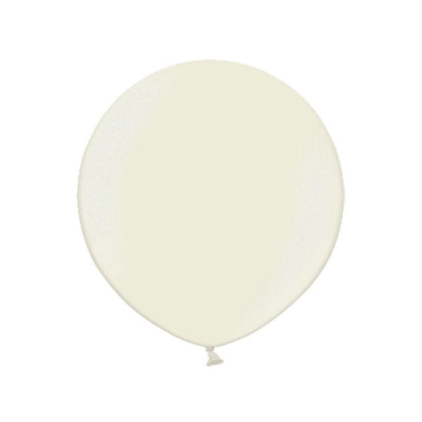 "Big Round Pearl Ivory Latex Balloon 24""  Big Round Latex Balloons Hello Party Essentials - Hello Party"