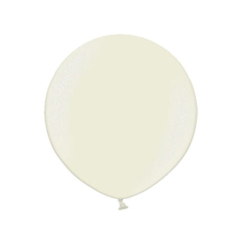 Big Round Pearl Ivory Latex Balloon 24""