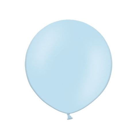 Big Round Pastel Sky Blue Latex Balloon 24""