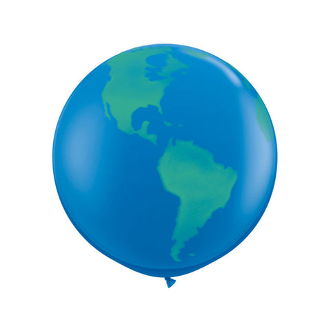 Giant Round Dark Blue Globe Balloon 36""