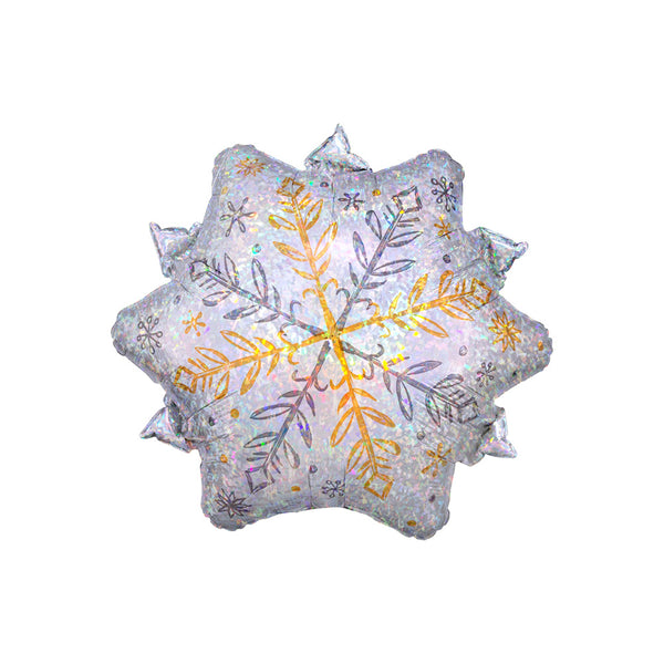 "Shining Christmas Snowflake Foil Balloon (18"")  Balloons Anagram - Hello Party"