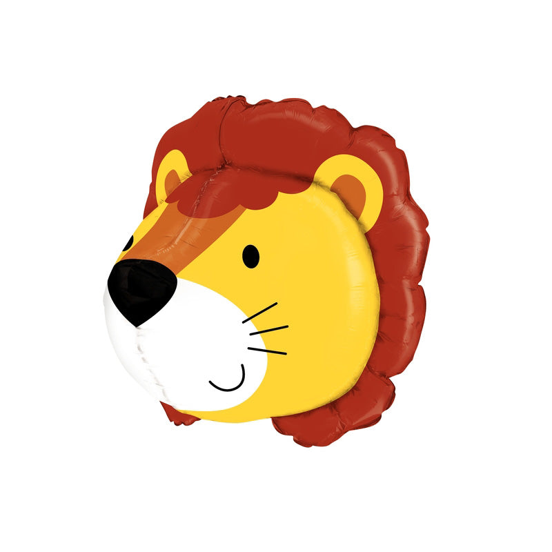 Friendly Lion Multi Sided Foil Jungle Party Balloon