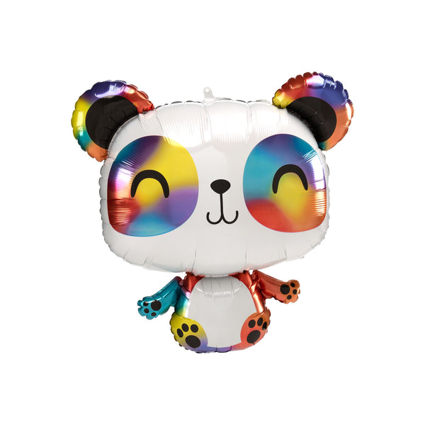 Rainbow Panda Foil Balloon