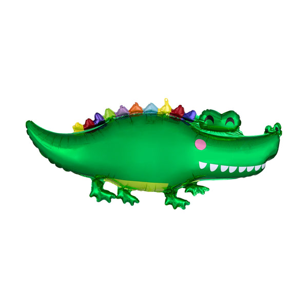"Happy Snappy Crocodile Foil Balloon (32"")"