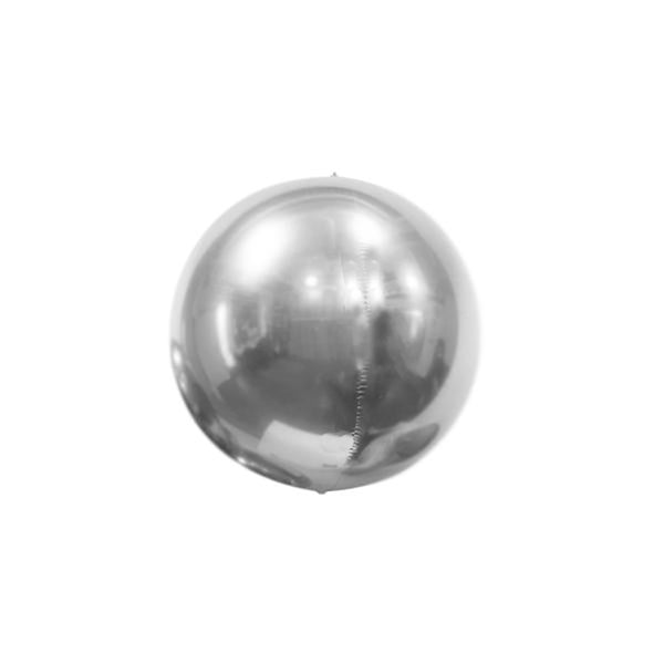 "Mini Silver Mirror Orb Balloon (7"")  mini orb balloon Hello Party Essentials - Hello Party"