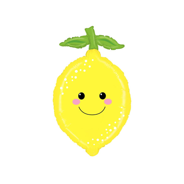 Smiley Happy Lemon Large Foil Balloon  Balloons Betallic - Hello Party