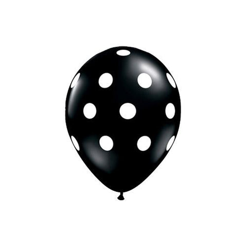Black Polka Dot Latex Party Balloons