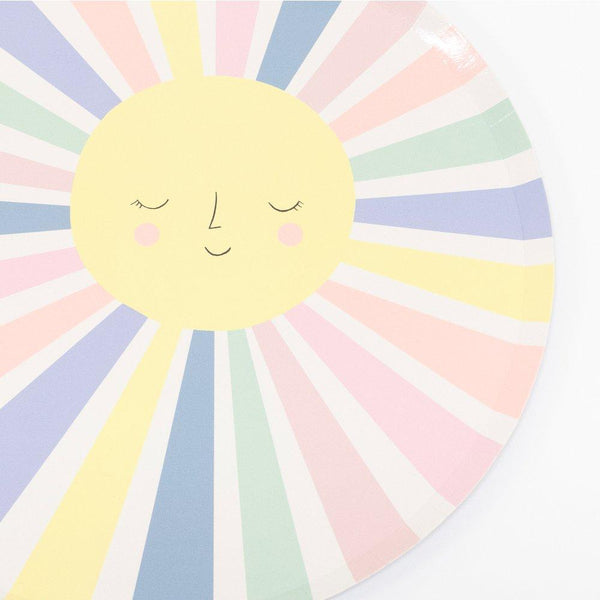 Meri Meri Rainbow Sun Dinner Plates | Hello Stylish Party Supplies