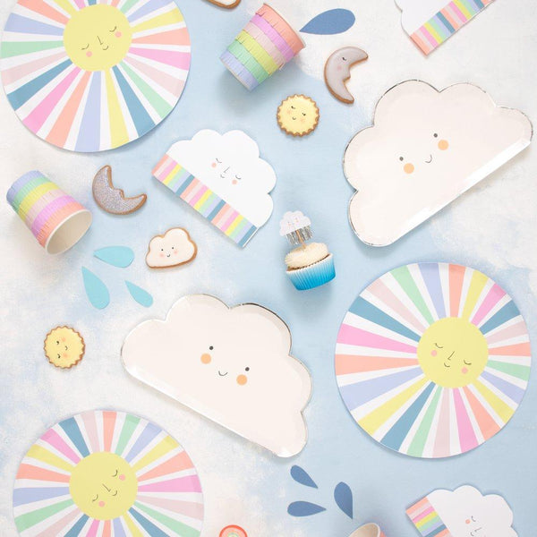 Meri Meri | Rainbow Sun Cloud Napkins | Stylish & Fun Party Tableware
