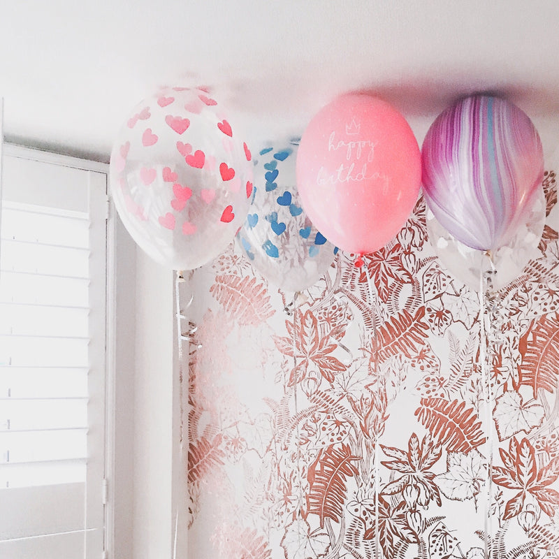Pink Happy Birthday Printed Balloon (pack of 3)  Printed Latex Balloons Hello Party Essentials - Hello Party