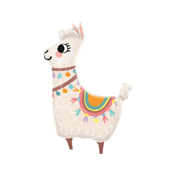 Loveable Llama Foil Birthday Party Balloon