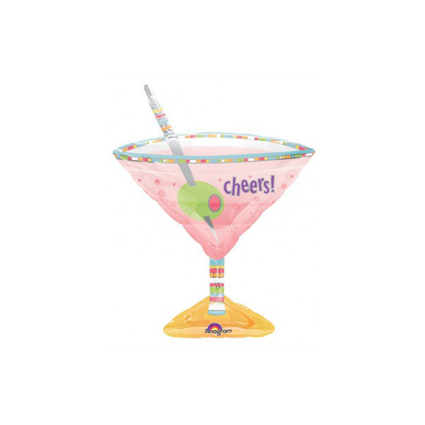 "Martini Cocktail Glass 33"" Supershape Foil Balloon"
