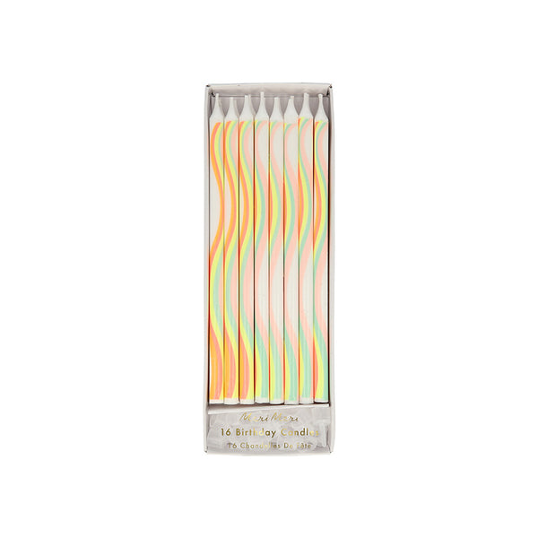 Rainbow Pattern Candles