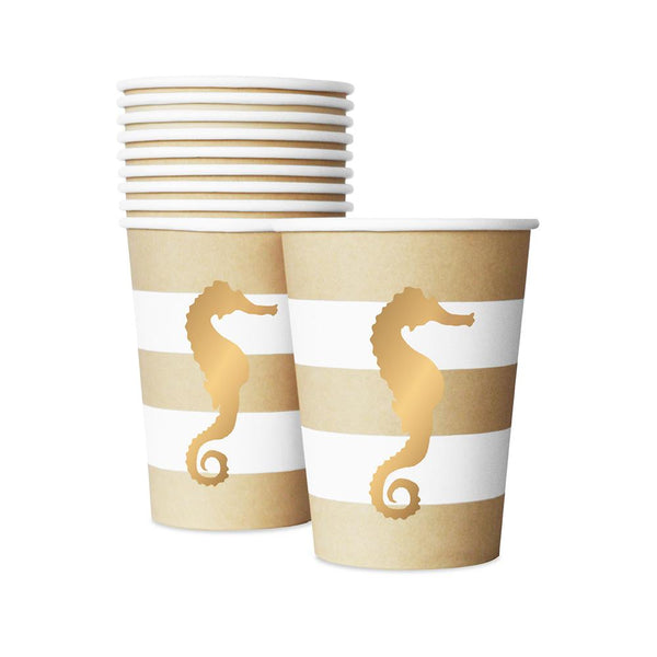 Preppy Seahorse Cups  Party Cups Delight Department - Hello Party