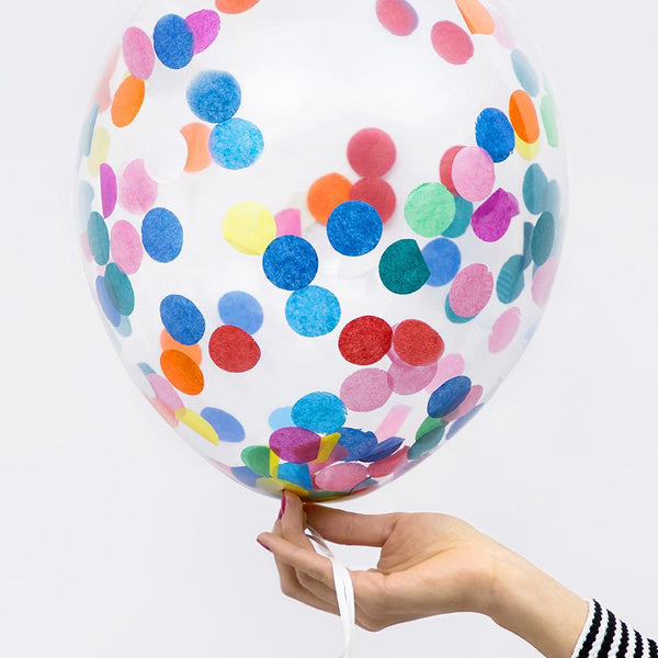 Colourful Rainbow Confetti Balloon  Confetti Balloons Party Deco - Hello Party