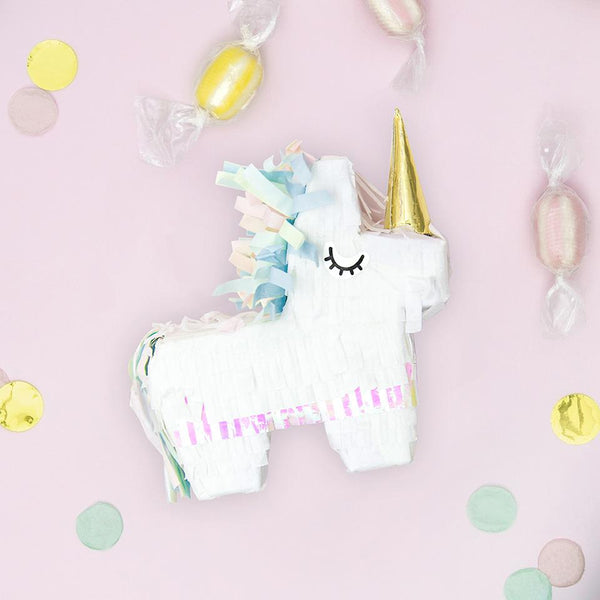 Mini Unicorn Piñata  Mini Piñata Party Deco - Hello Party