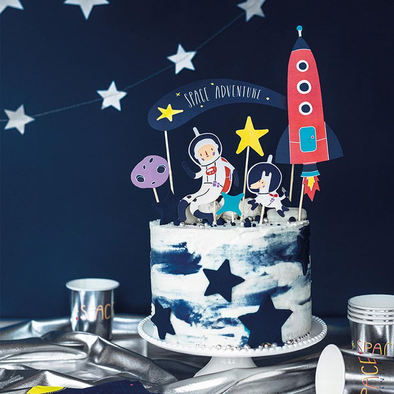 Space Party Cake Toppers  Cake Topper Party Deco - Hello Party