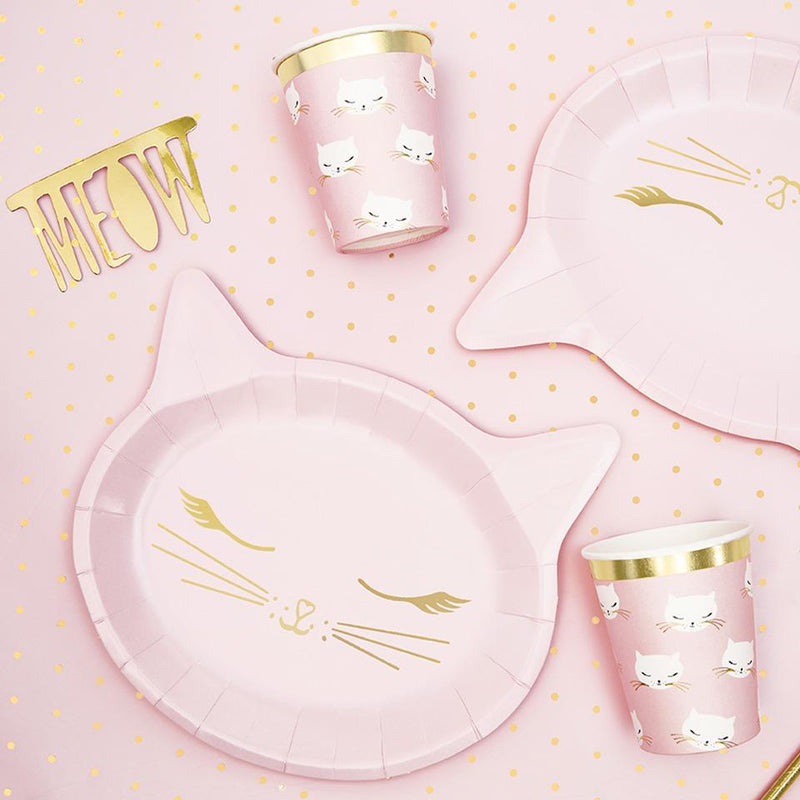 Pretty Party Cat Plates