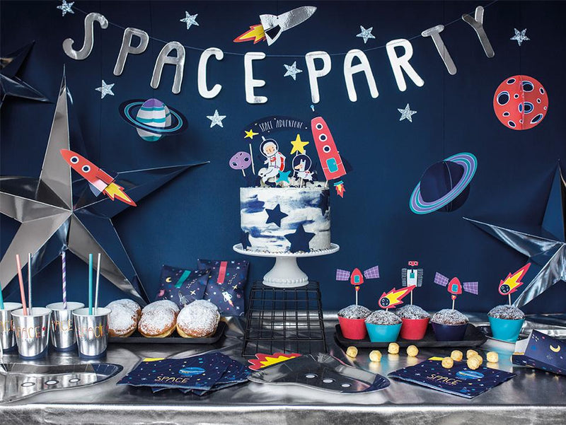 Space Party Banner  Garland Party Deco - Hello Party