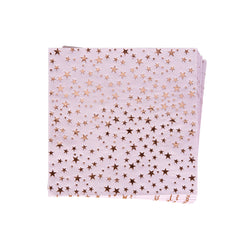 Pink and Rose Gold Stars Napkins (pack of 16)  Napkins Neviti - Hello Party