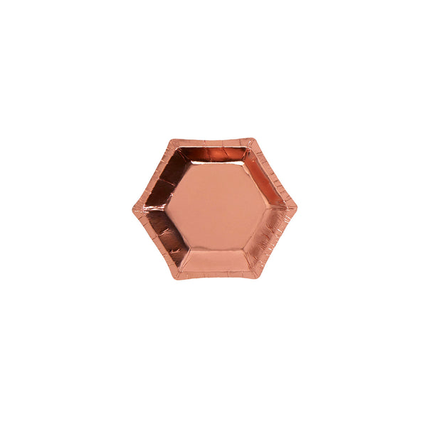 Rose Gold Small Canapé Plates (pack of 8)  Party Plates Neviti - Hello Party