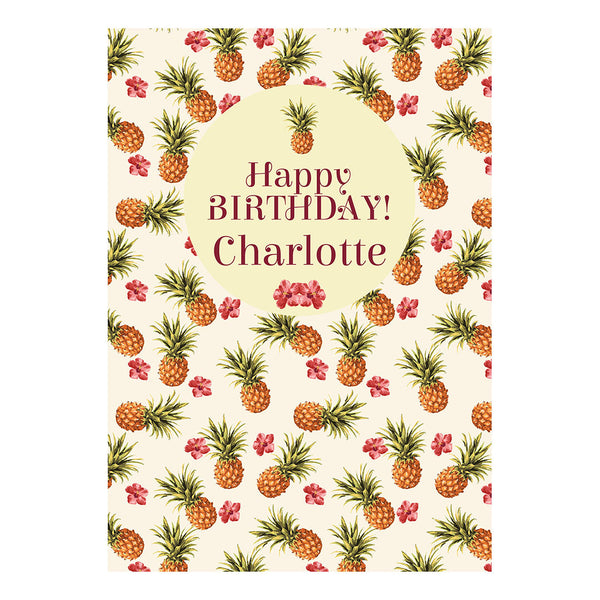 Birthday Pineapples! Poster <br/> with a space for your name or message  Personalisable Poster Hello Party - All you need to make your party perfect! - Hello Party