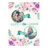 Rustic Watercolour Fresh Poster <br/> with spaces for 2 photos and your name or message
