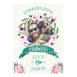 Rustic Watercolour Fresh Poster <br/> with a space for 1 photo and your name or message
