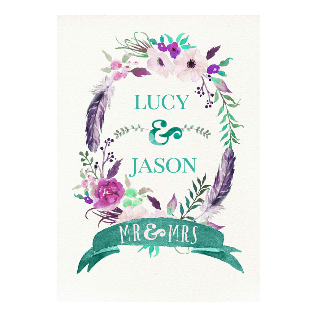 Rustic Watercolour Fresh Poster <br/> with a space for your name or message