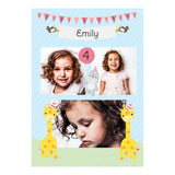Party Animals Poster <br/> with spaces for 3 photos and your name or message