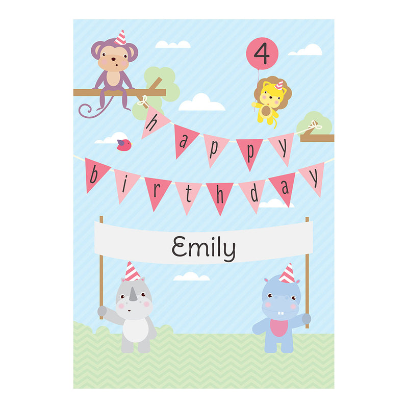 Party Animals Poster <br/> with a space for your name or message