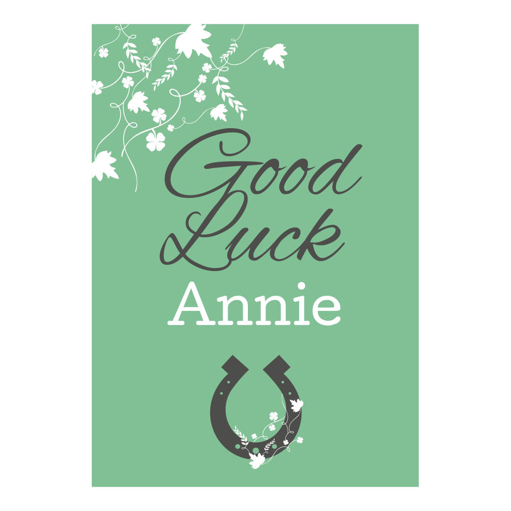 Good Luck Poster <br/> with a space for your name or message