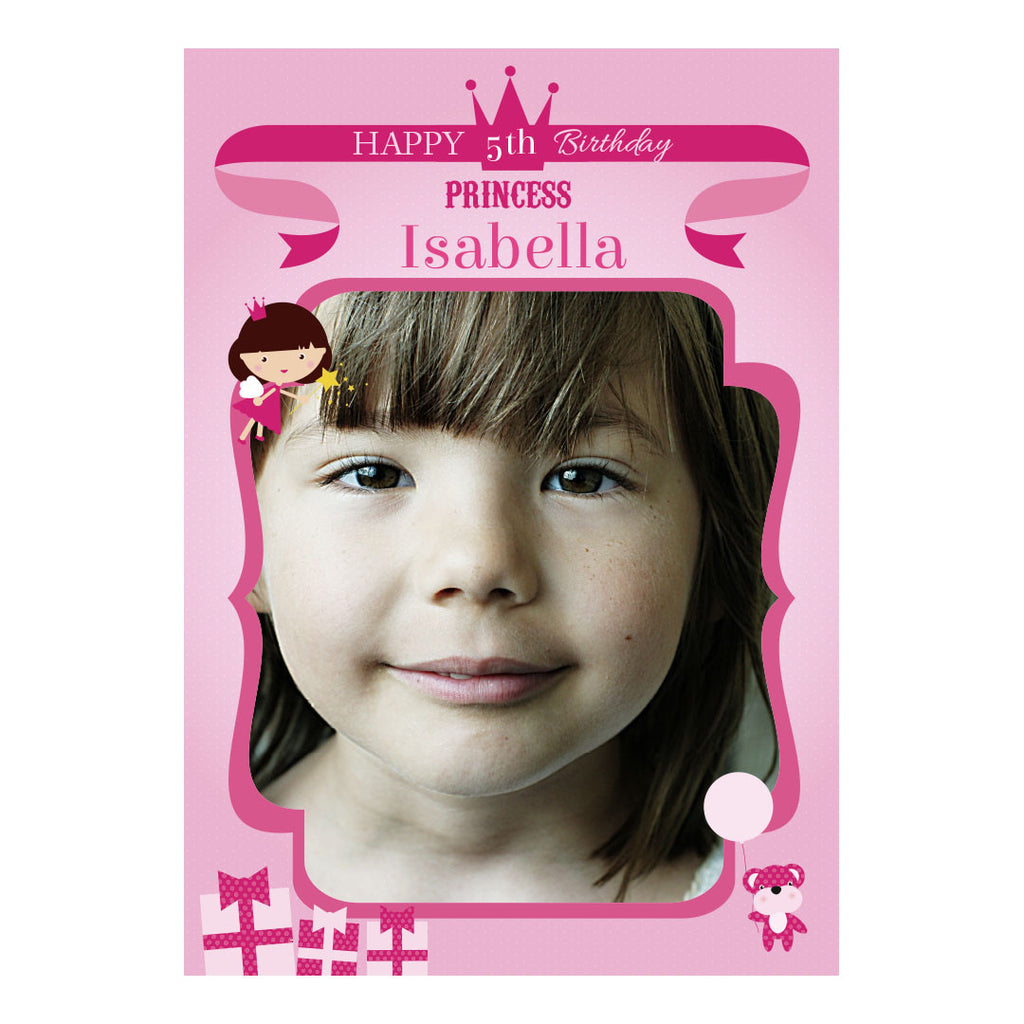 Fairy Princess Poster <br/> with a space for 1 photo and your name or message
