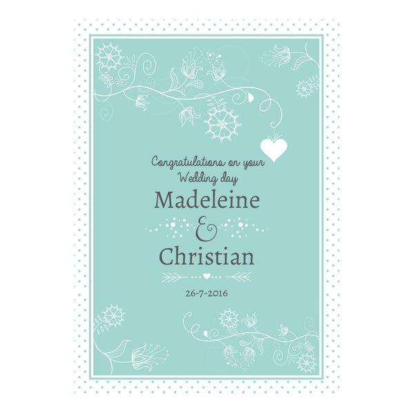 Whimsical Wedding Poster <br/> with a space for your name or message