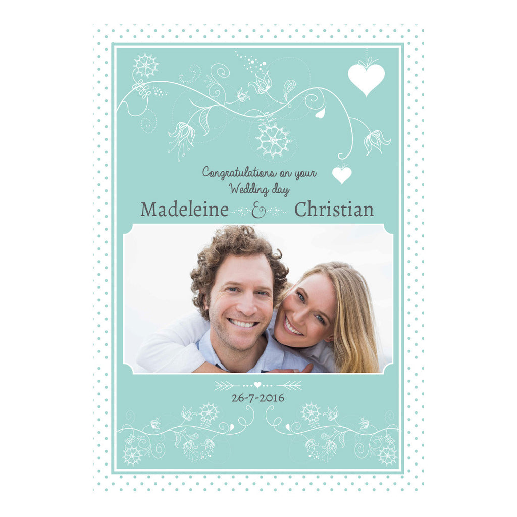 Whimsical Wedding Poster <br/> with a space for 1 photo and your name or message