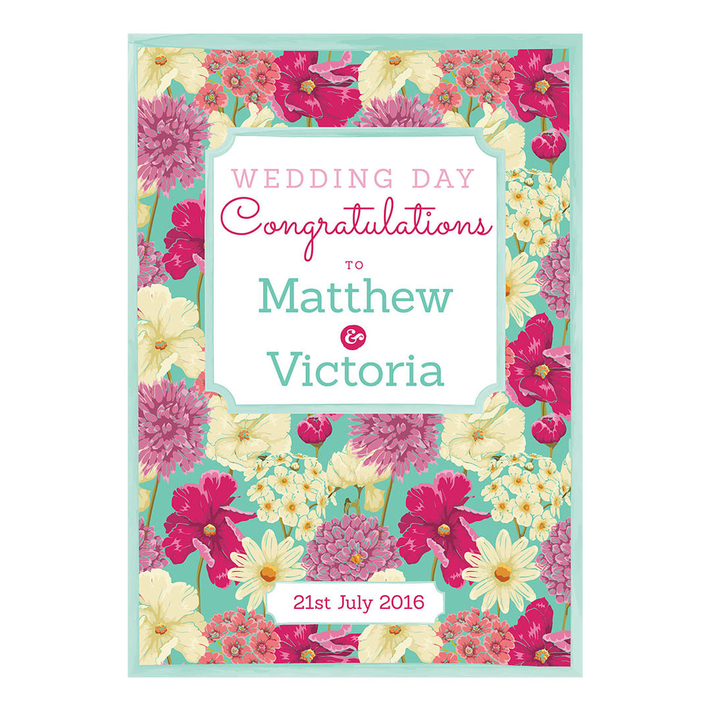 Big & Bright Wedding Blooms Banner <br/> with a space for your name or message - Hello Party - All you need to make your party perfect!