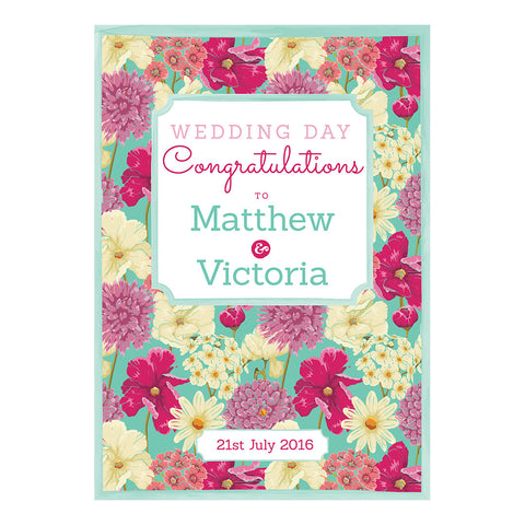 Big & Bright Wedding Blooms Poster <br/> with a space for your name or message  Personalisable Poster Hello Party - All you need to make your party perfect! - Hello Party