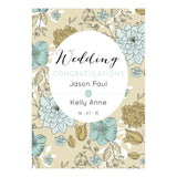 Wedding Wallpaper : Blue & Gold Poster <br/> with a space for your name or message