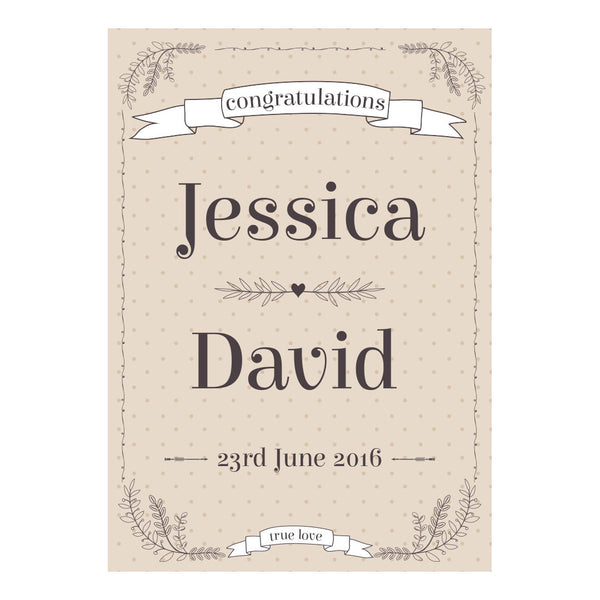 Classic Country Wedding Poster <br/> with a space for your name or message  Personalisable Poster Hello Party - All you need to make your party perfect! - Hello Party
