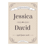 Classic Country Wedding Poster <br/> with a space for your name or message