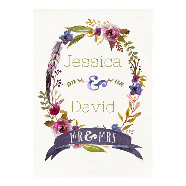 Rustic Watercolour Poster <br/> with a space for your name or message