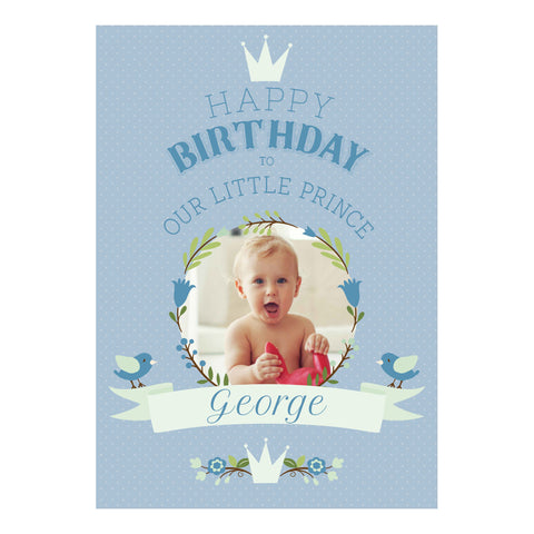 Our Little Prince Poster <br/> with a space for 1 photo and your name or message