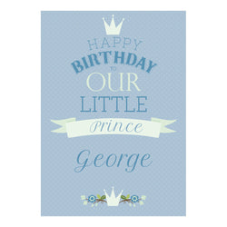 Our Little Prince Poster <br/> with a space for your name or message