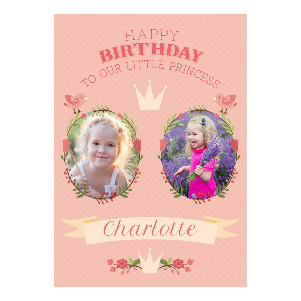 Our Little Princess Poster <br/> with spaces for 2 photos and your name or message