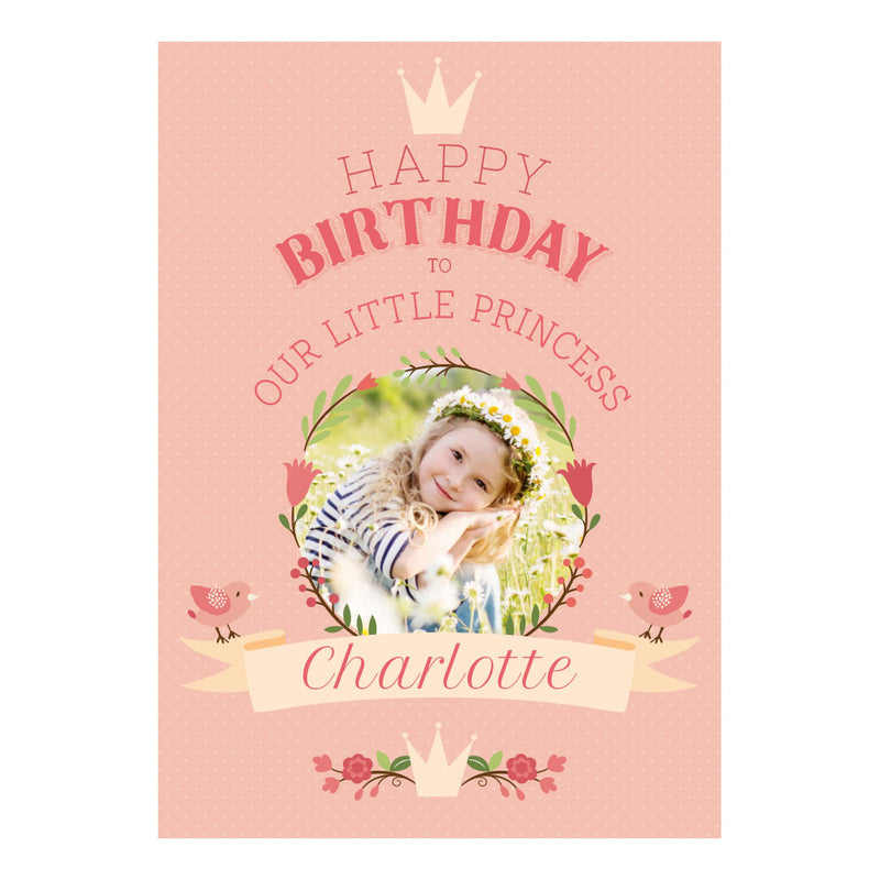 Our Little Princess Poster <br> with a space for 1 photo and your name or message
