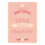 Our Little Princess Poster <br/> with a space for your name or message