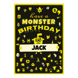 Monster Birthday Poster <br/> with a space for your name or message