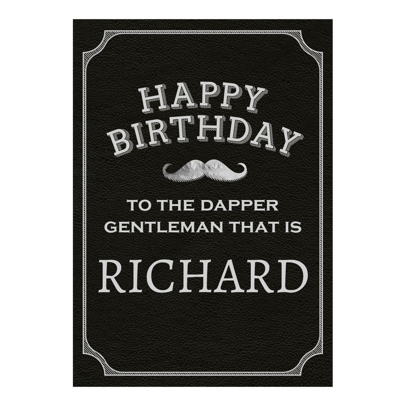 Dapper Gentleman Black Poster <br/> with a space for your name or message  Personalisable Poster Hello Party - All you need to make your party perfect! - Hello Party