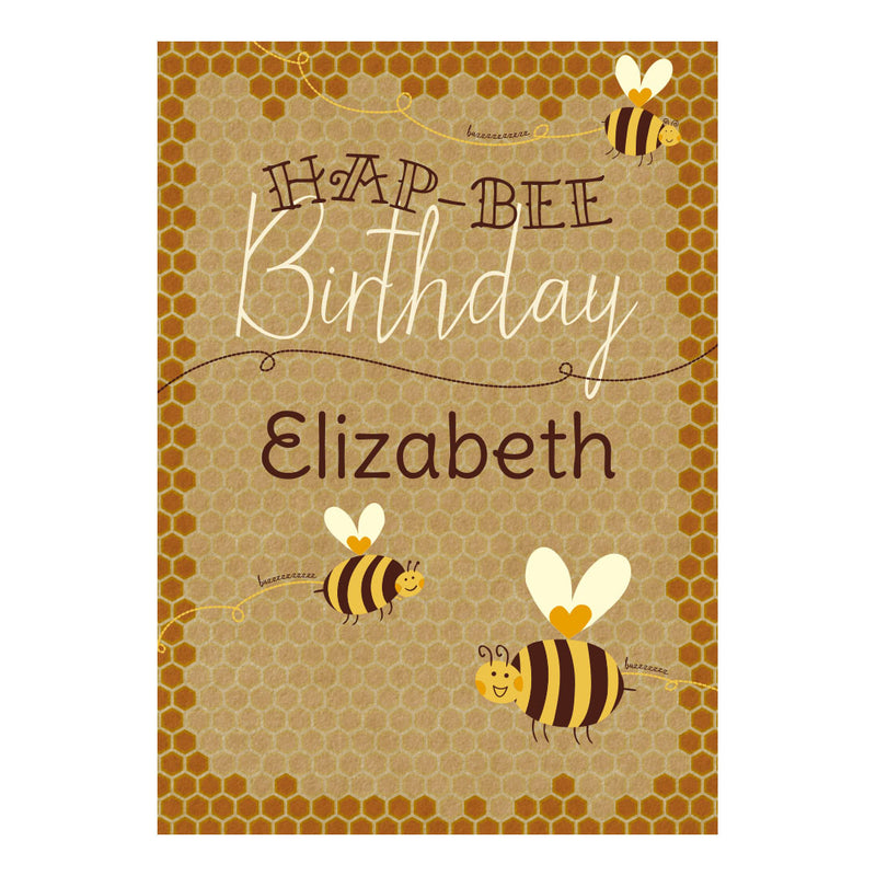 Hap-Bee Birthday Poster <br/> with a space for your name or message