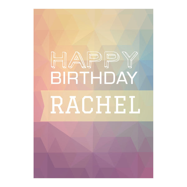 Geometric Pastels Poster <br/> with a space for your name or message